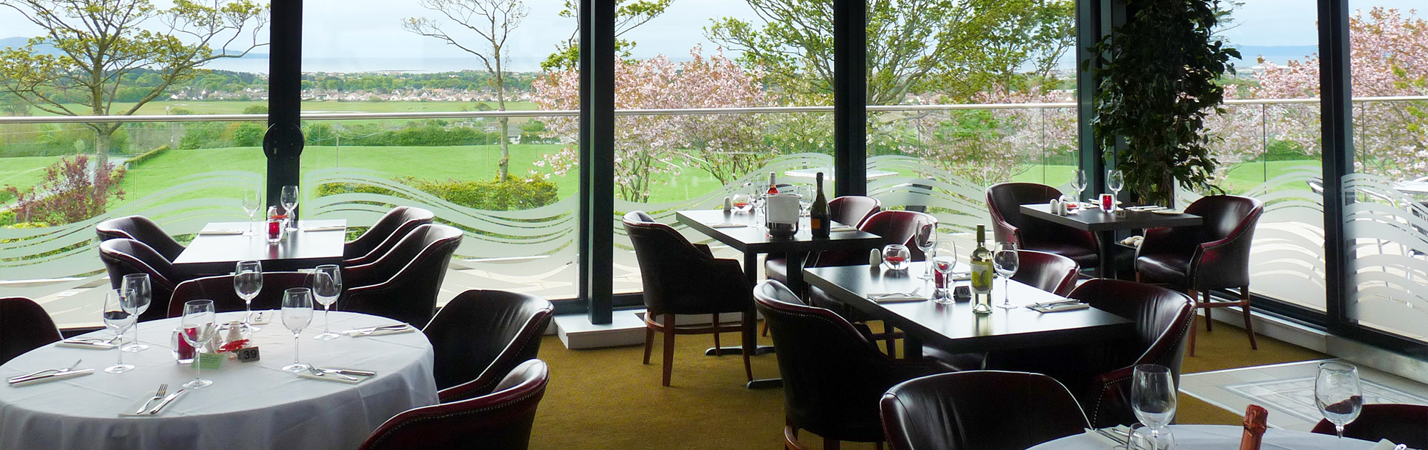 Al fresco dining: Our impressive patio area offers stunning panoramic views of Ayrshire